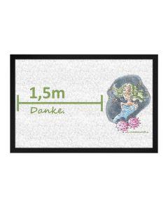 '1,5m danke': Corona social distance Fußmatte 60 x 40 cm